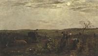Wine Harvest In Burgundy, 1863 Fine-Art Print