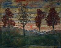 Four Trees, 1917 Fine-Art Print