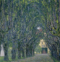 Tree-Lined Road Leading To The Manor House At Kammer, 1912 Fine-Art Print