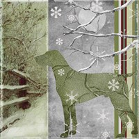 Country Christmas Dog Fine-Art Print