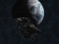 Asteroid in Front of Earth Fine-Art Print