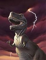 Tyrannosaurus Rex in a Storm Fine-Art Print