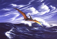 Pteranodon Soars Over Waves Fine-Art Print