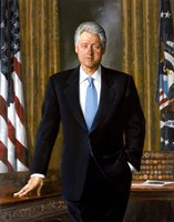 Bill Clinton in White House Fine-Art Print