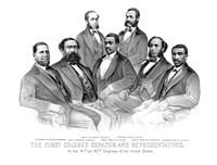 First African American Senator and Representatives Fine-Art Print