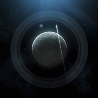 Planet and Rings Fine-Art Print