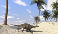 Dicraeosaurus in a Prehistoric Environment Fine-Art Print
