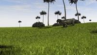 Lystrosaurus in a Grassy Field Fine-Art Print