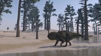 Udanoceratops Walking Along Water Fine-Art Print