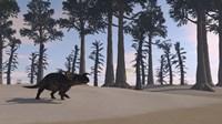 Brown Einiosaurus Roaming Fine-Art Print