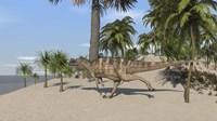 Ceratosaurus Running Fine-Art Print