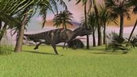 Ceratosaurus Running Across a Field Fine-Art Print