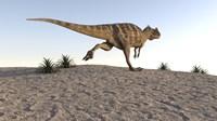 Ceratosaurus Running Across a Terrain Fine-Art Print