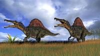 Two Spinosaurus Hunting Fine-Art Print