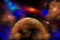 Colorful Star System Fine-Art Print