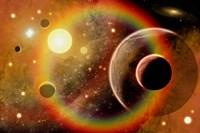 Planetary System in Nebula Fine-Art Print