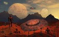 Alien Flying Saucer Fine-Art Print