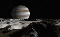 Jupiter's Large Moon, Europa Fine-Art Print