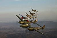 Five Lockheed P-38 Lightnings Fine-Art Print