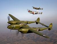 Three Lockheed P-38 Lightnings Fine-Art Print