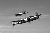 A P-38 Lightning and P-51D Mustang Fine-Art Print
