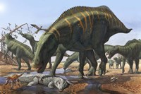 Shantungosaurus Dinosaurs Fine-Art Print