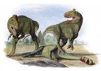 Two Cryolophosaurus Ellioti Fine-Art Print