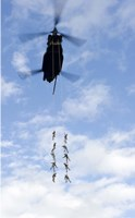 US Soldiers Suspended by a CH-47 Chinook Fine-Art Print