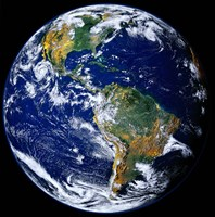Full Earth Showing The Americas Fine-Art Print
