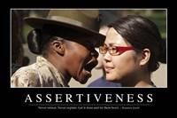 Assertiveness: Inspirational Quote and Motivational Poster Fine-Art Print
