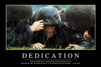 Dedication: Inspirational Quote and Motivational Poster Fine-Art Print