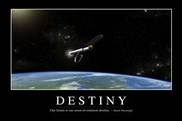 Destiny: Inspirational Quote and Motivational Poster Fine-Art Print