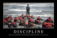Discipline: Inspirational Quote and Motivational Poster Fine-Art Print