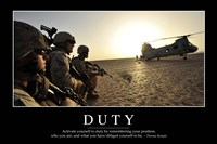 Duty: Inspirational Quote and Motivational Poster Fine-Art Print