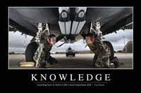 Knowledge: Inspirational Quote and Motivational Poster Fine-Art Print