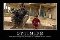Optimism: Inspirational Quote and Motivational Poster Fine-Art Print