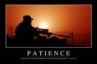Patience: Inspirational Quote and Motivational Poster Fine-Art Print