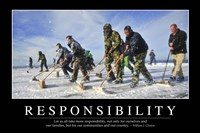 Responsibility: Inspirational Quote and Motivational Poster Fine-Art Print