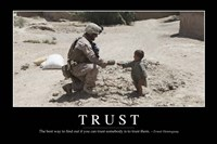 Trust: Inspirational Quote and Motivational Poster Fine-Art Print