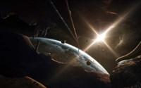 Mining Colony on an Asteroid Fine-Art Print