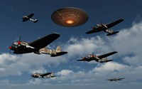 German Heinkel Bombers and UFO Fine-Art Print