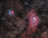 Lagoon Nebula and Trifid Nebula in Sagittarius Fine-Art Print