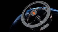 Space Station 5 in Earth Orbit Fine-Art Print