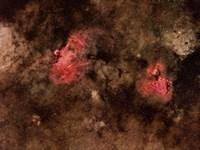 Eagle Nebula and Swan Nebula Fine-Art Print