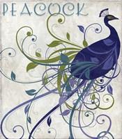 Peacock Nouveau I Fine-Art Print