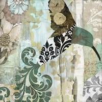 Hummingbird Batik I Fine-Art Print