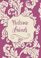Welcome Flag Pink Fine-Art Print