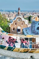 Spain, Catalonia, Barcelona, Park Guell Terrace Fine-Art Print