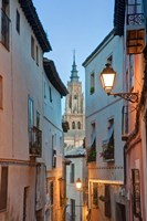 Alleyway and Toledo Cathedral Steeple, Toledo, Spain Fine-Art Print