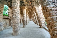 Park Guell Colonnaded Footpath, Barcelona, Spain Fine-Art Print
